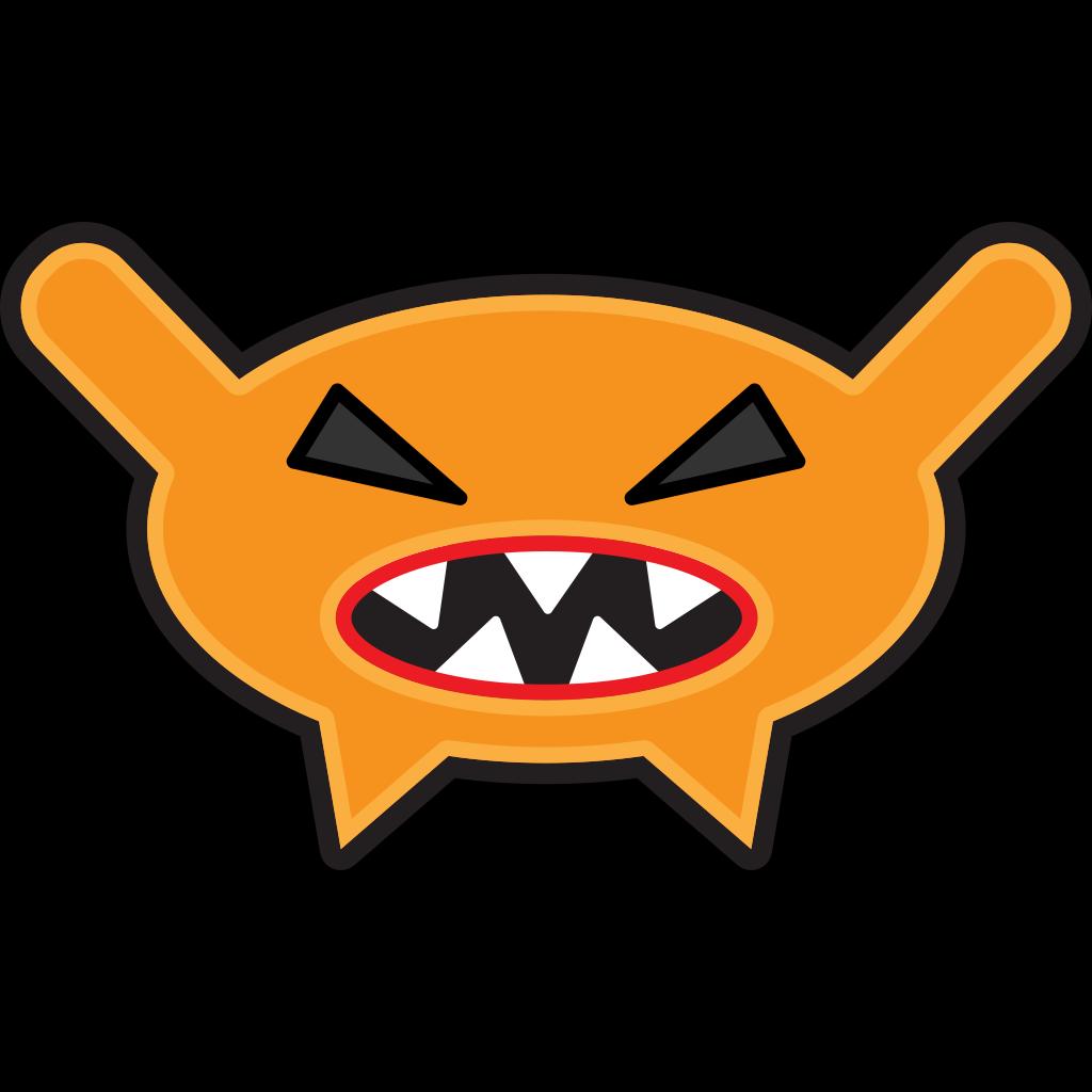 Orange Cartoon Monster SVG Clip arts