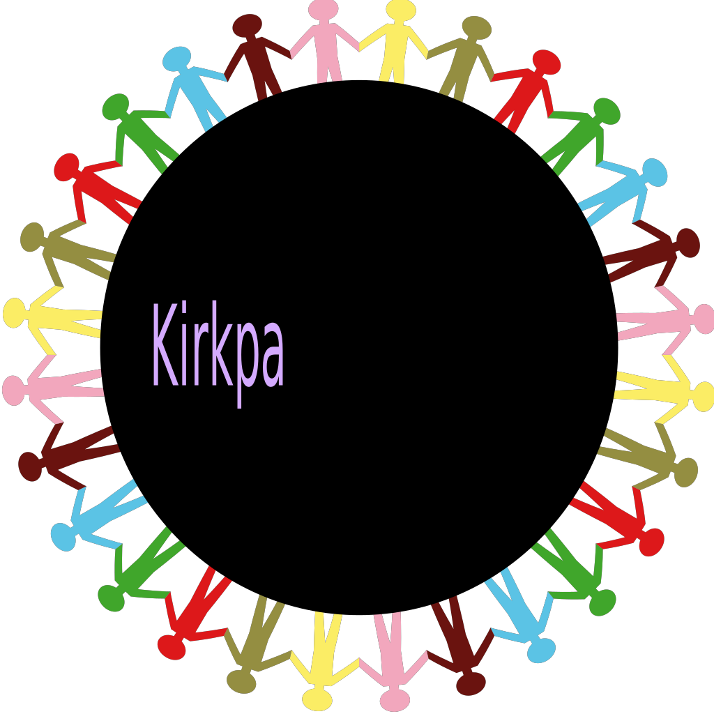 Circle Holding Hands Stick People Multi Coloured SVG Clip arts