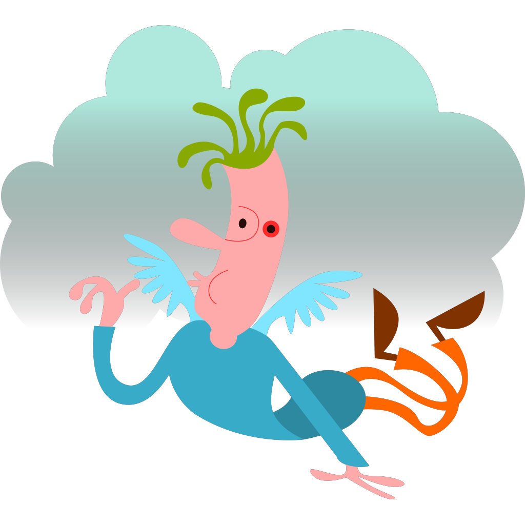 Man With Wings SVG Clip arts