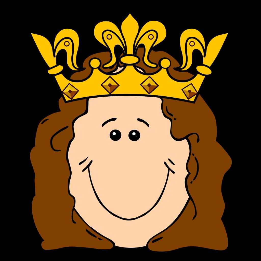Cartoon Queen Crown SVG Clip arts