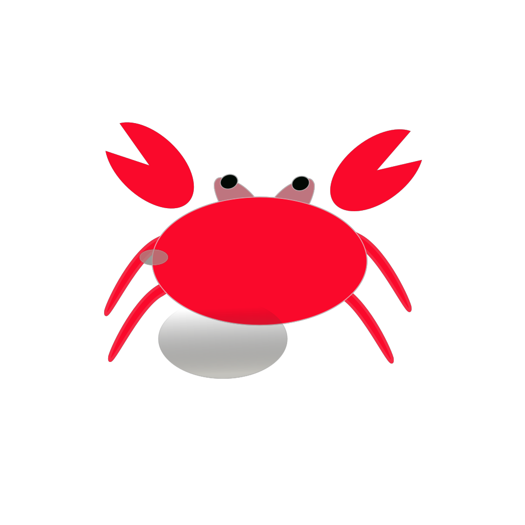 Red Crab SVG Clip arts
