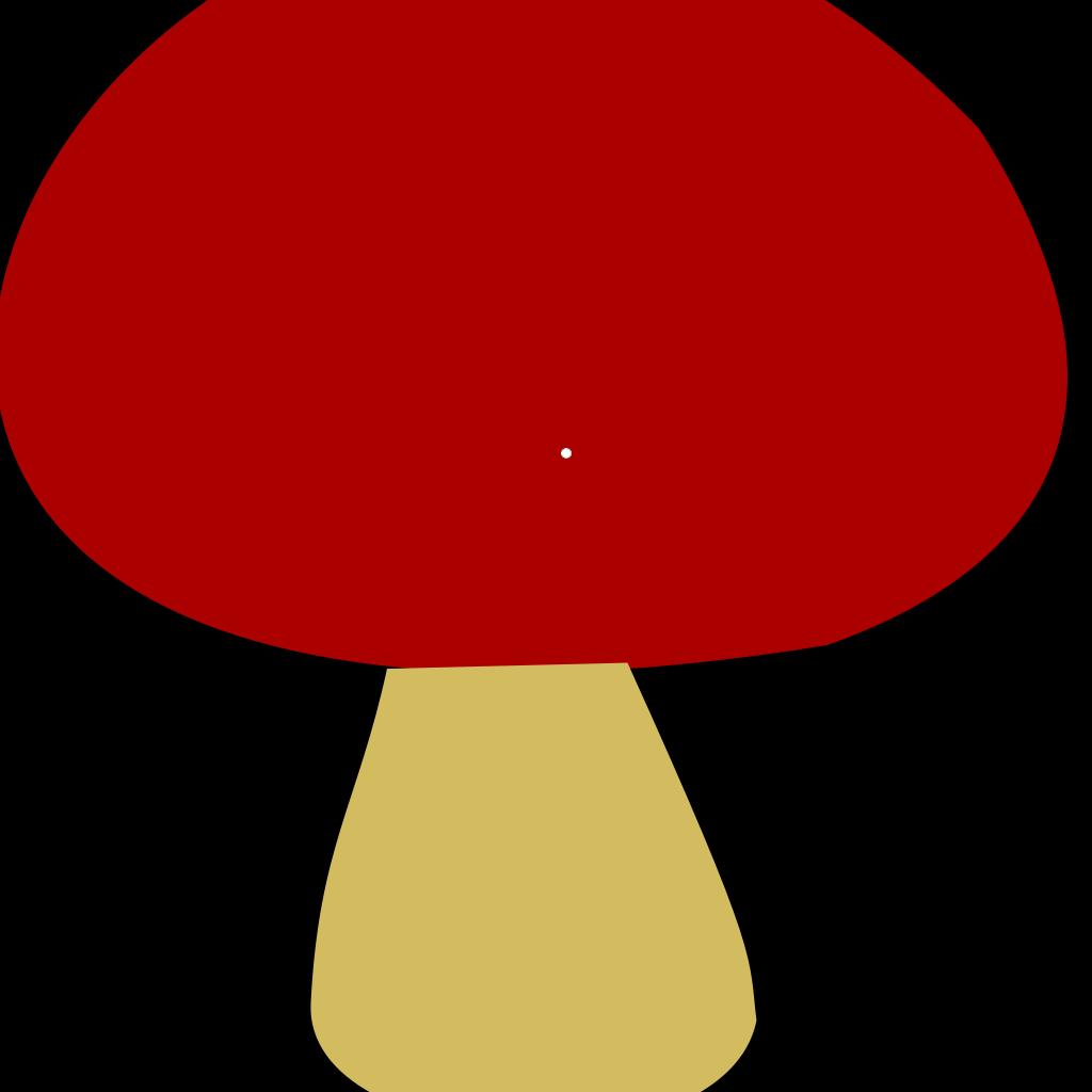 Red Mushroom SVG Clip arts
