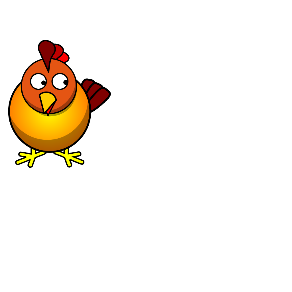 Chicken Looking Right SVG Clip arts