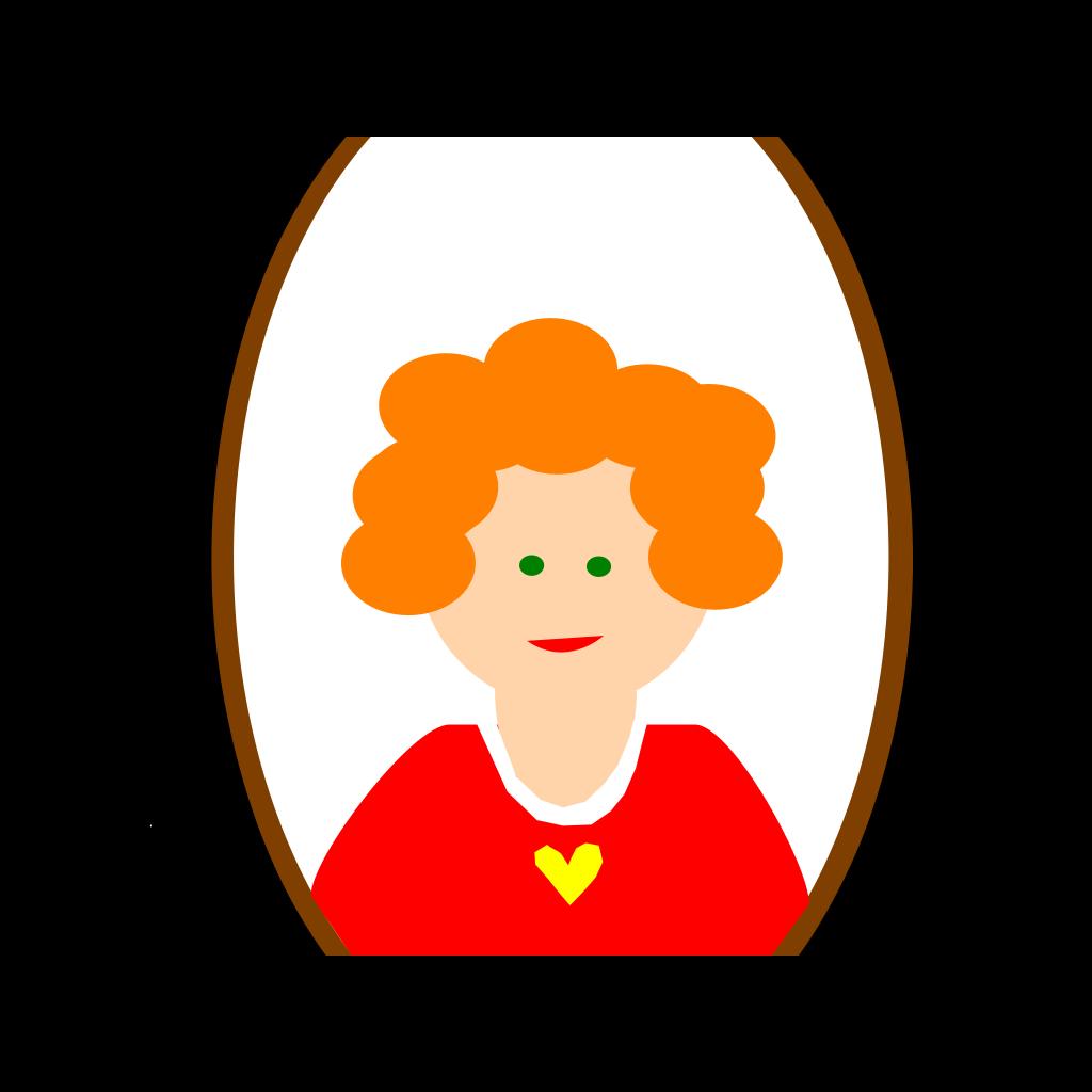 Red Head Girl Cartoon SVG Clip arts