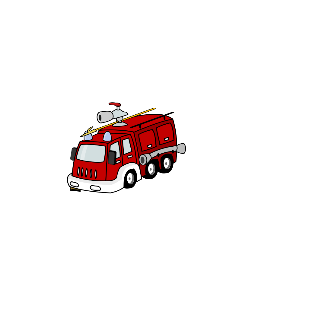 Fire Truck SVG Clip arts