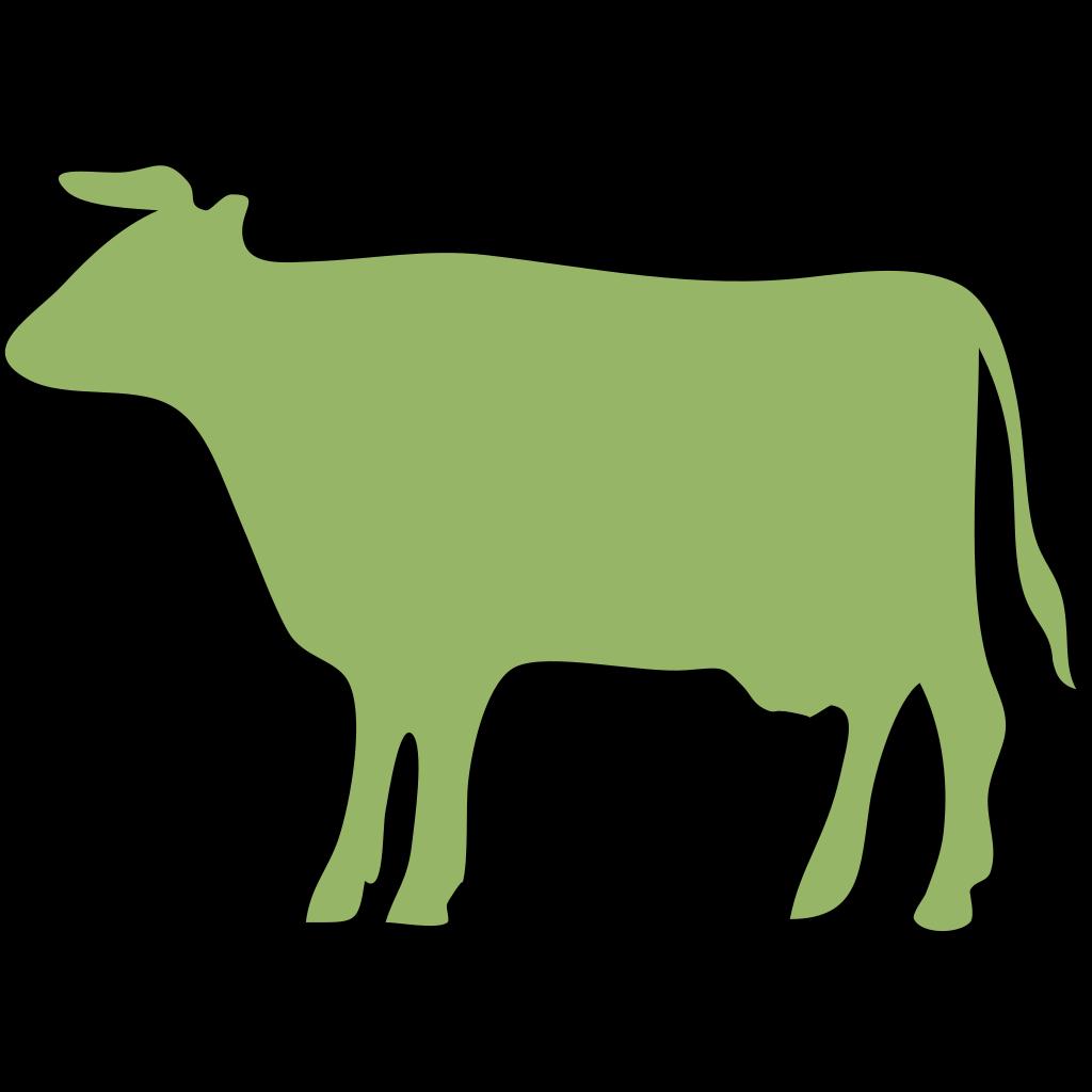Green Cow SVG Clip Arts 456 X 595 Px