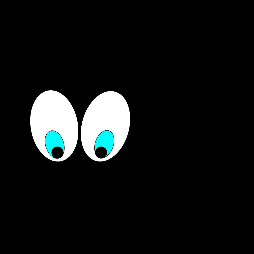 Cartoon Eyes(looking Down) SVG Clip arts