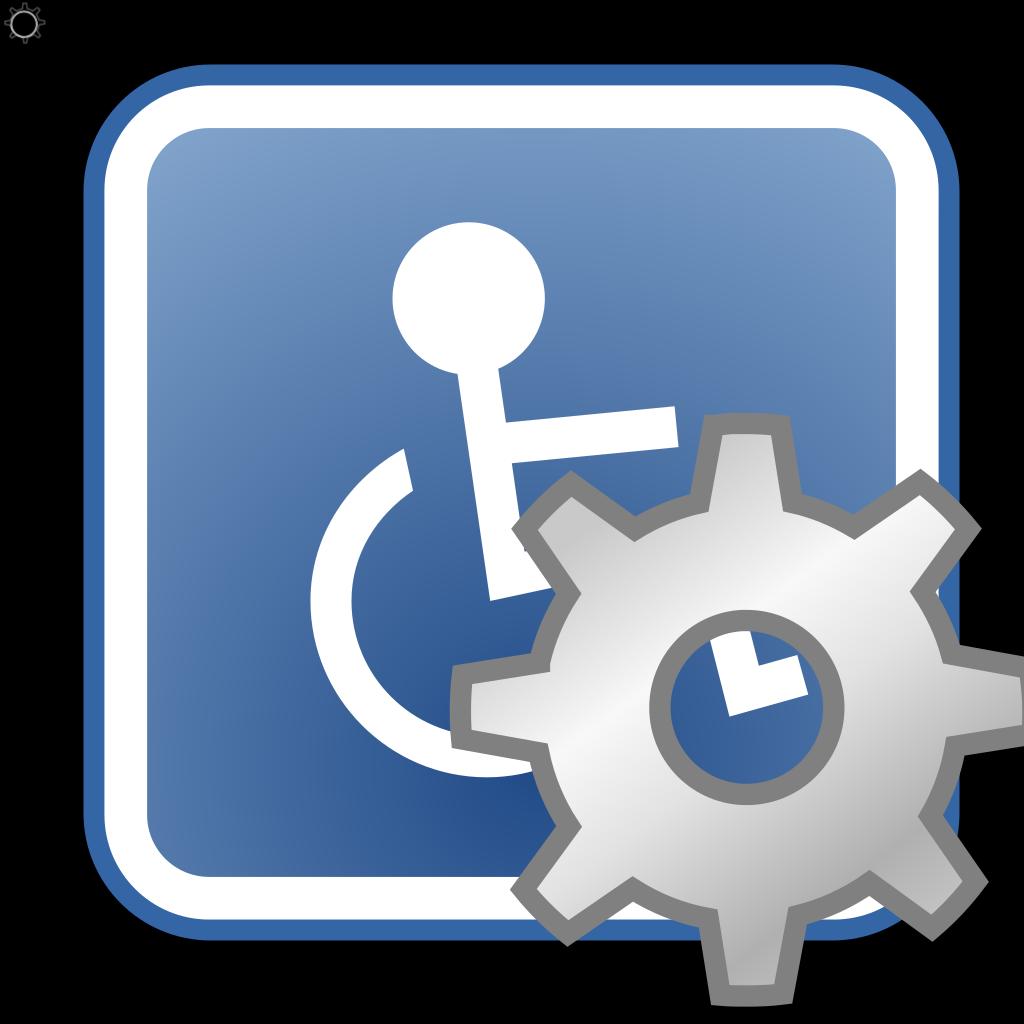 Preferences Desktop Assistive Technology SVG Clip arts