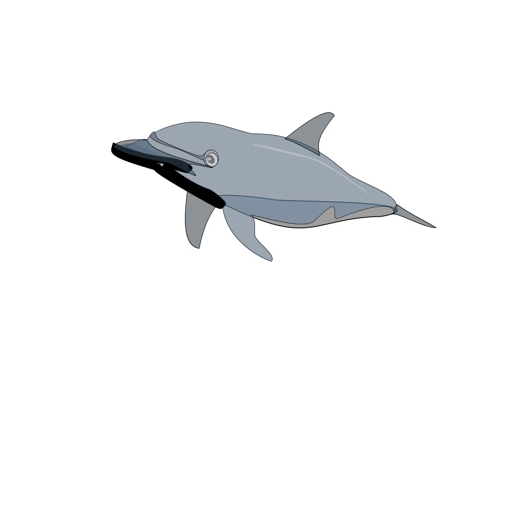 Dolphin 2 SVG Clip arts