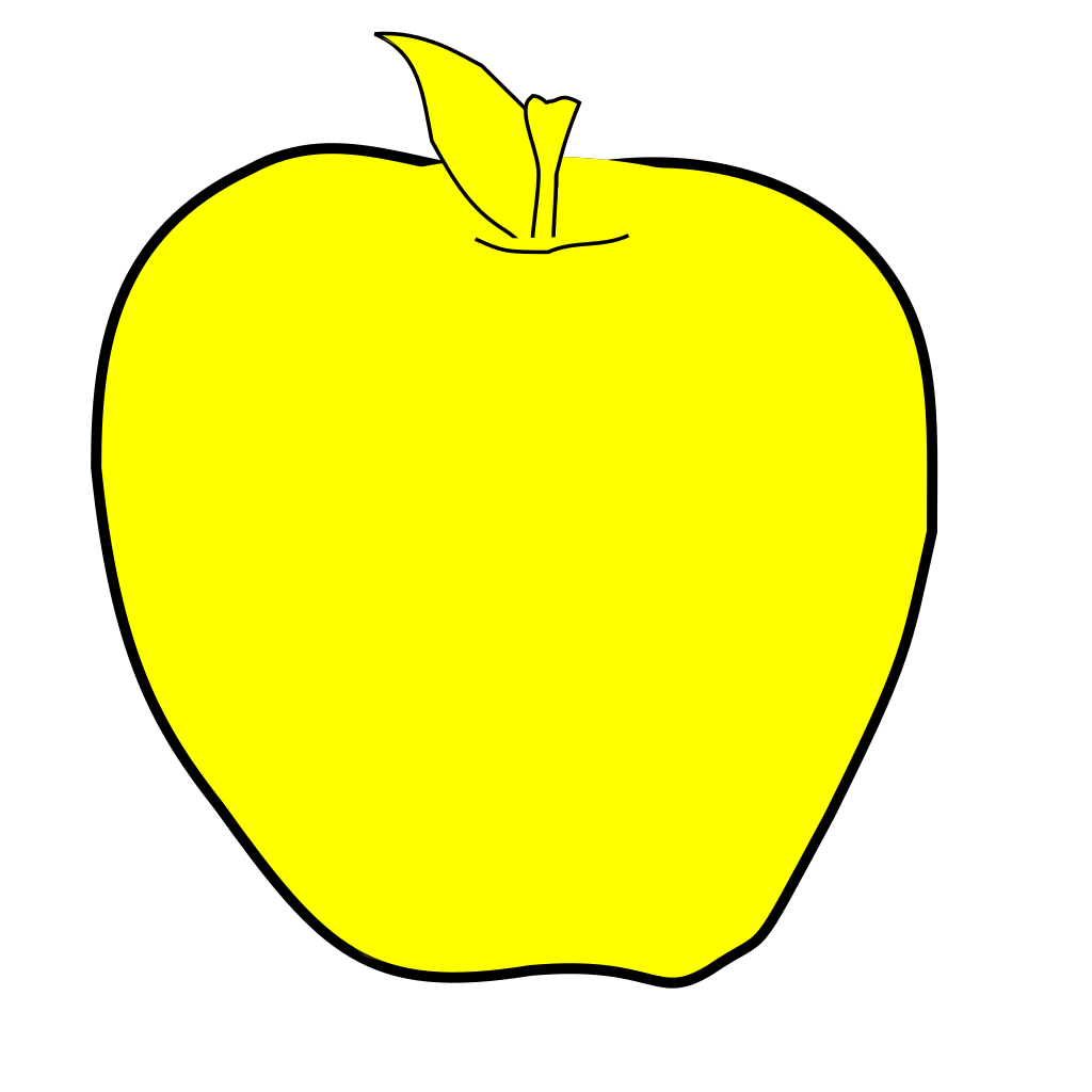 Yellow Apple SVG Clip arts