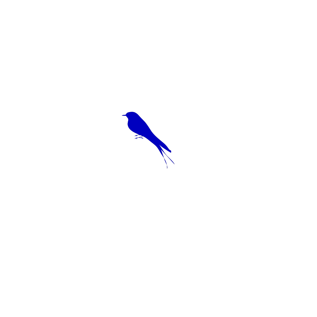 Blue Bird  SVG Clip arts