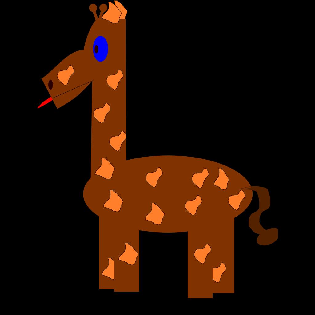 Cartoon Giraffe SVG Clip arts