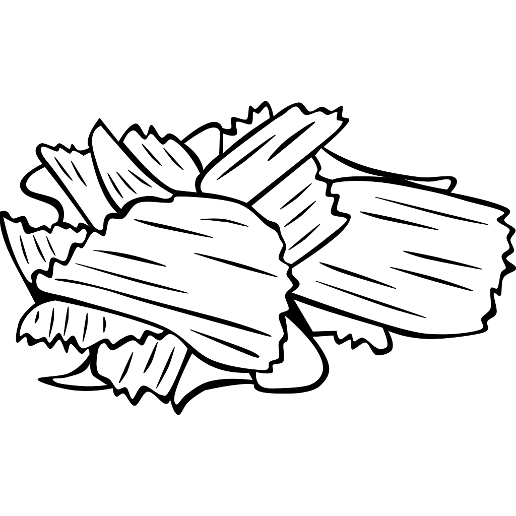 Potato Chips (b And W) SVG Clip arts