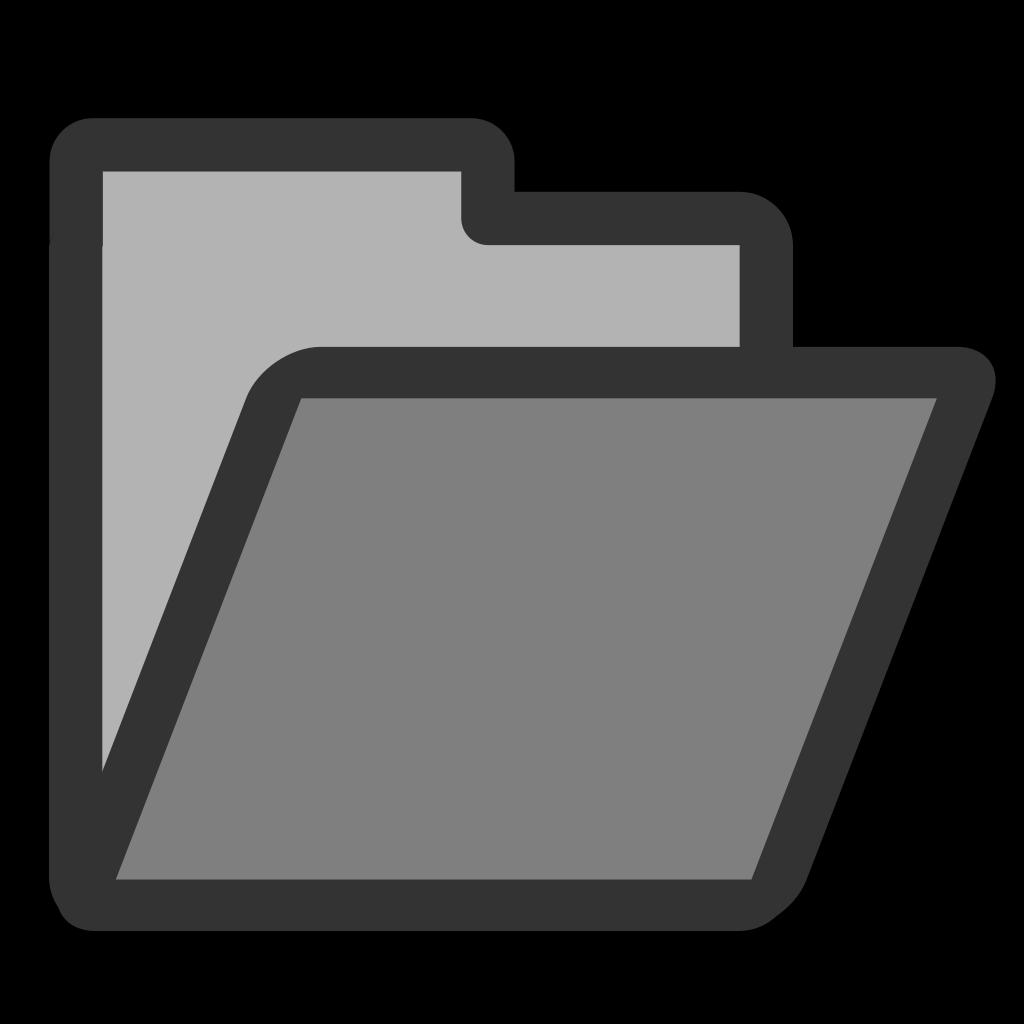 Open Folder SVG Clip arts