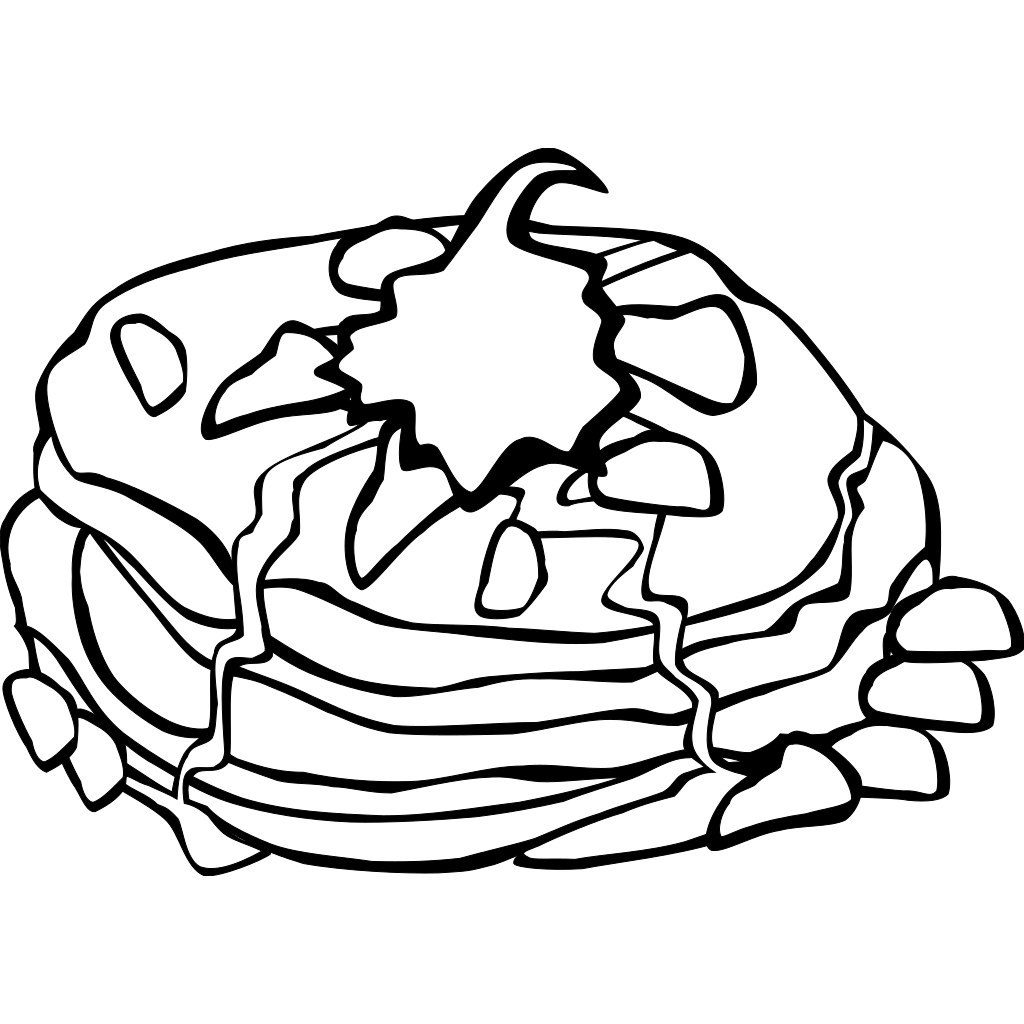 Breakfast With Pancakes SVG Clip arts