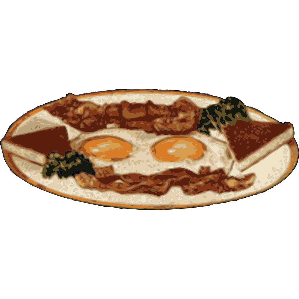 Breakfast Of Bacon And Eggs SVG Clip arts