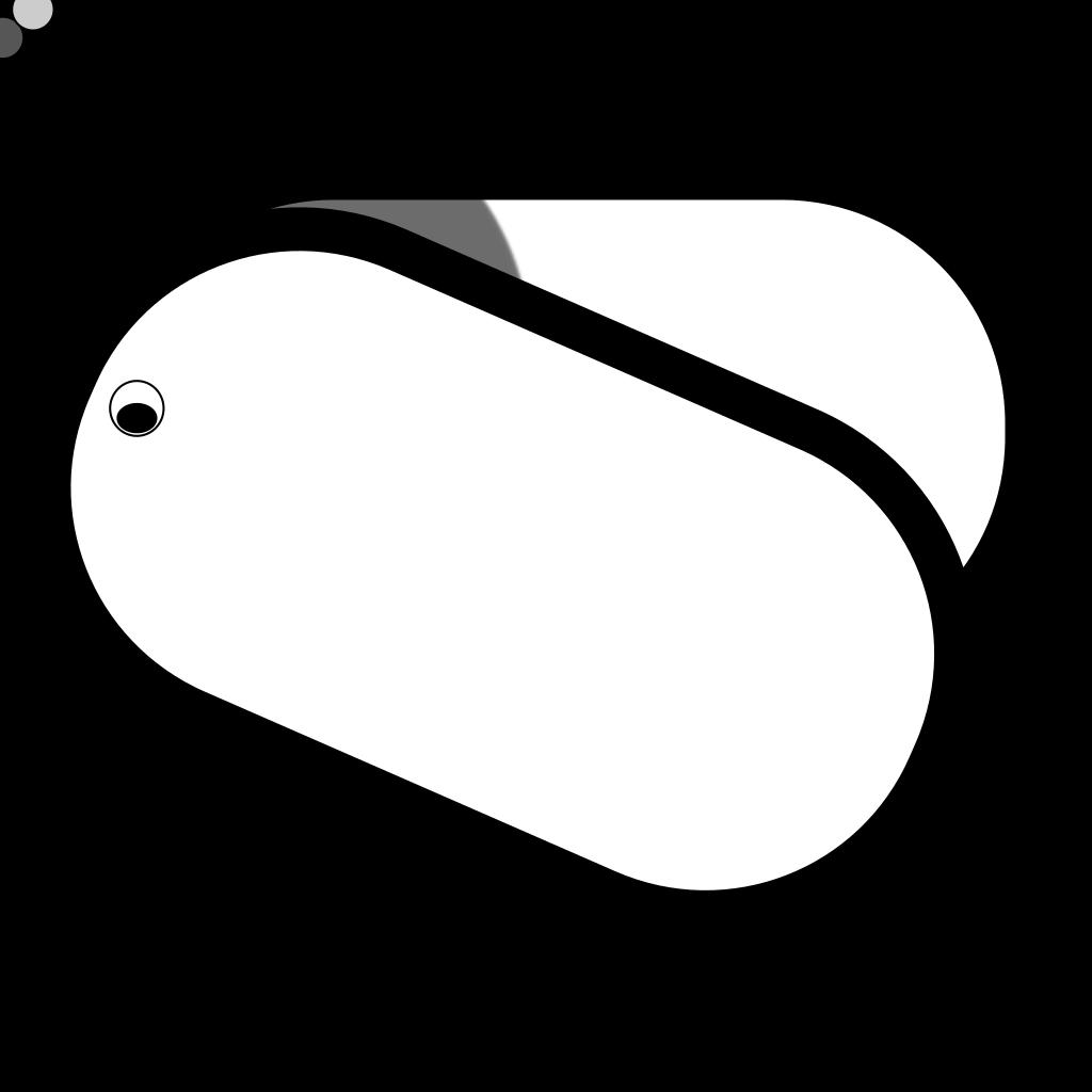 Dog Tags SVG Clip arts