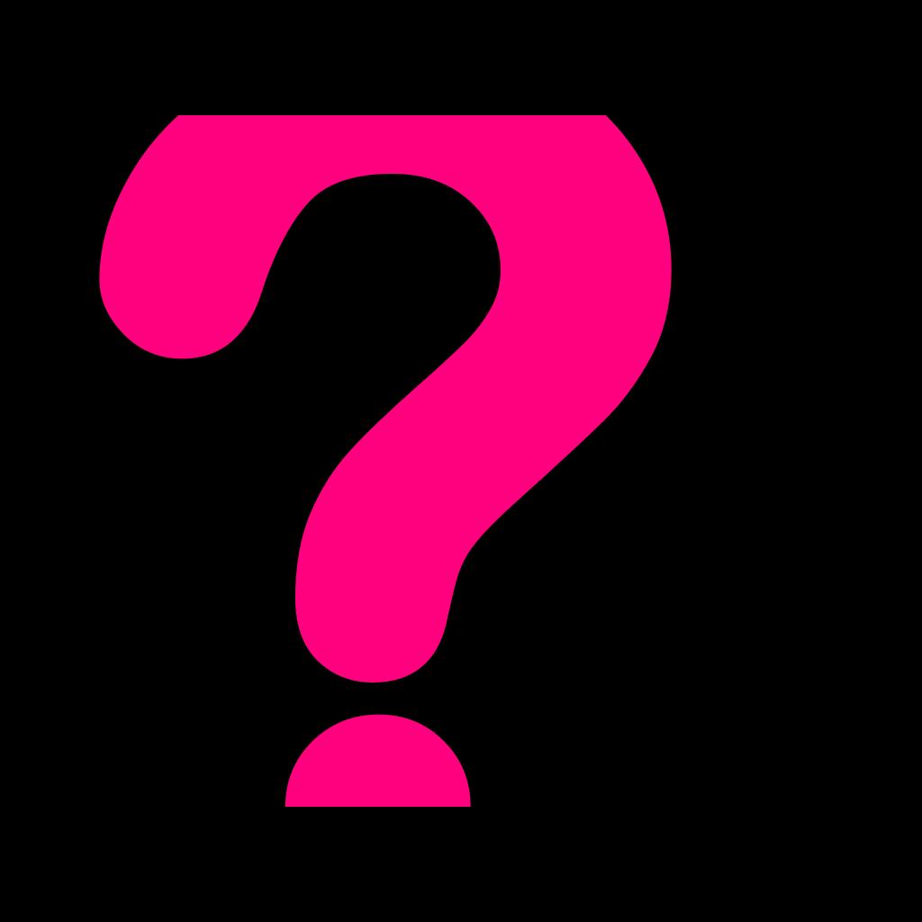 Blue Question Mark SVG Clip arts