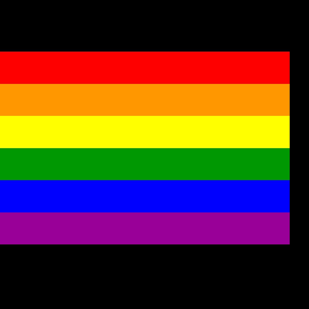Rainbow Flag SVG Clip arts