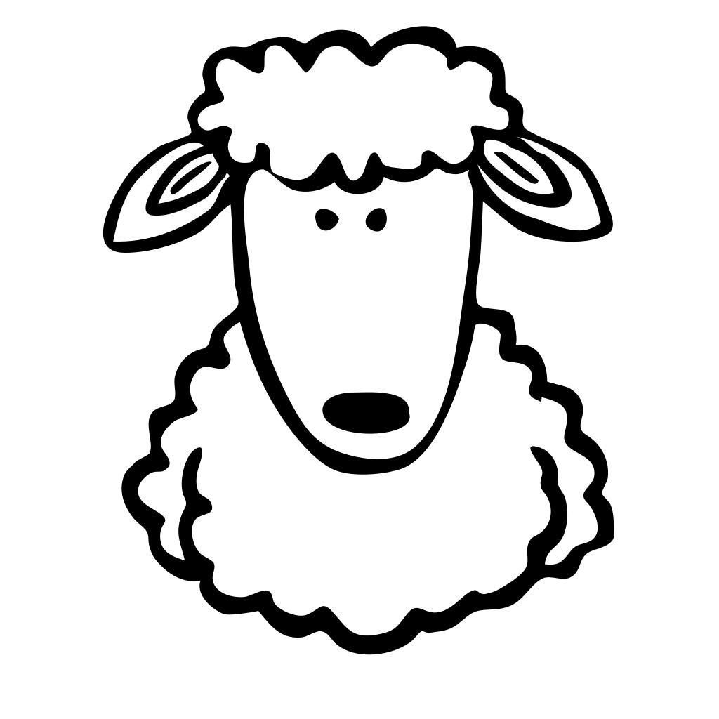 Sheep Md V SVG Clip arts