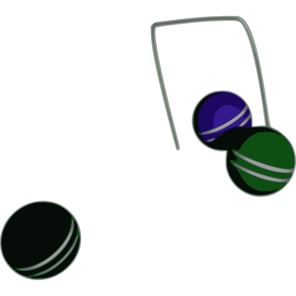 Croquet Action SVG Clip arts