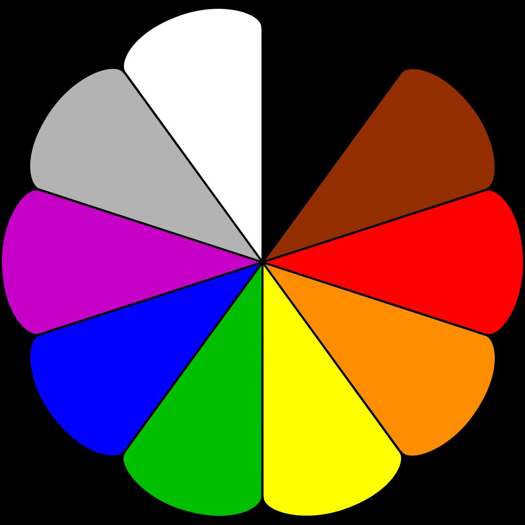 Flower Colors SVG Clip arts