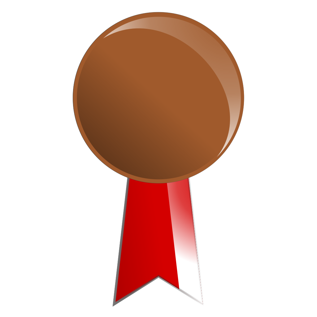 Bronze Medal SVG Clip arts