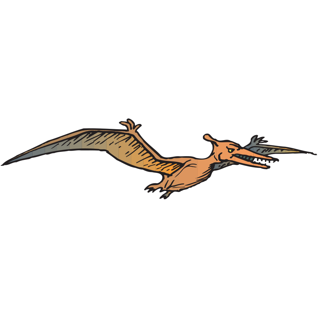 Flying Pterodactyl SVG Clip arts