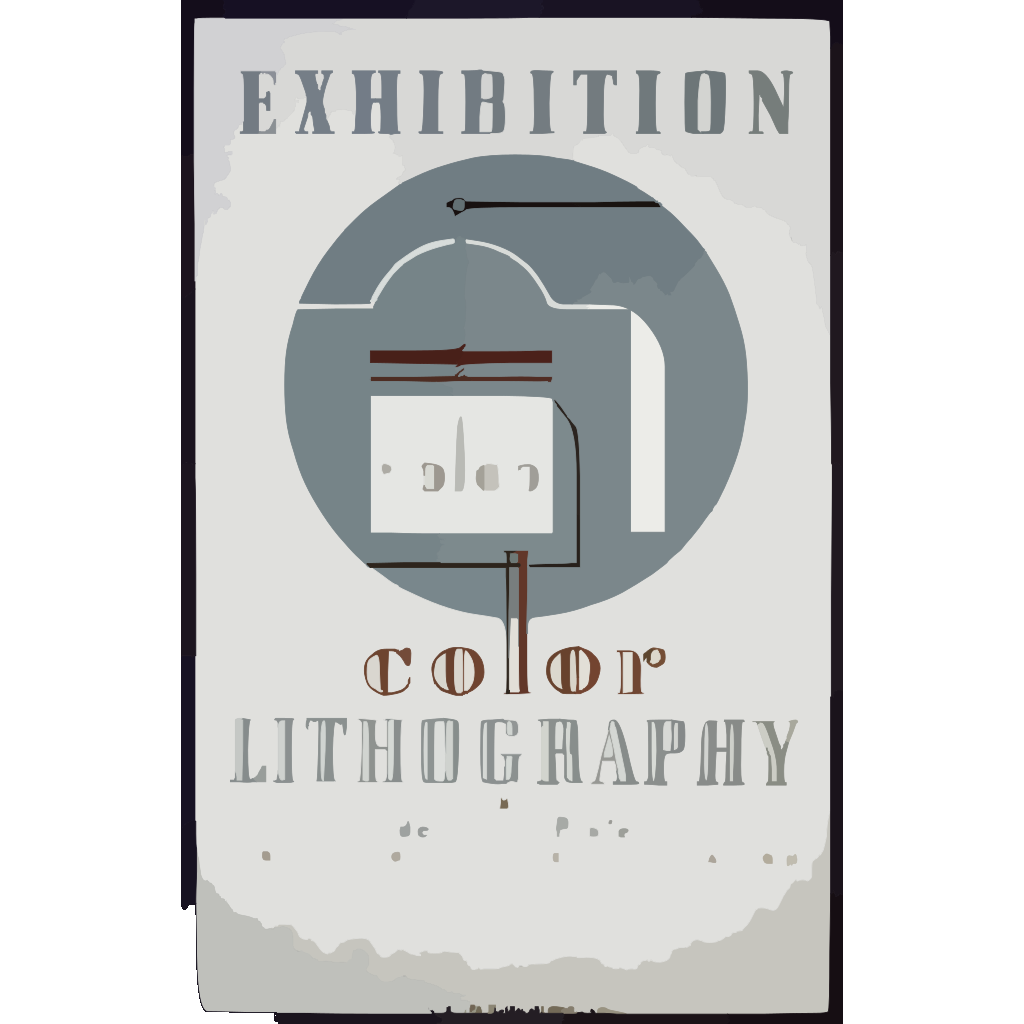 Exhibition Color Lithography By Federal Art Project Work Projects Administration SVG Clip arts