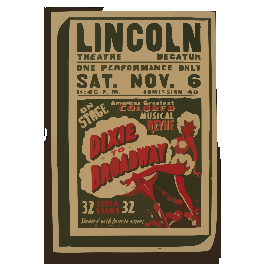 On Stage America S Greatest Colored Musical Revue  Dixie To Broadway  SVG Clip arts