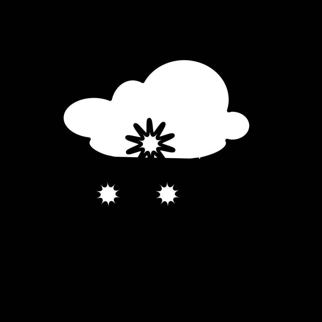 Snowy Outline SVG Clip arts