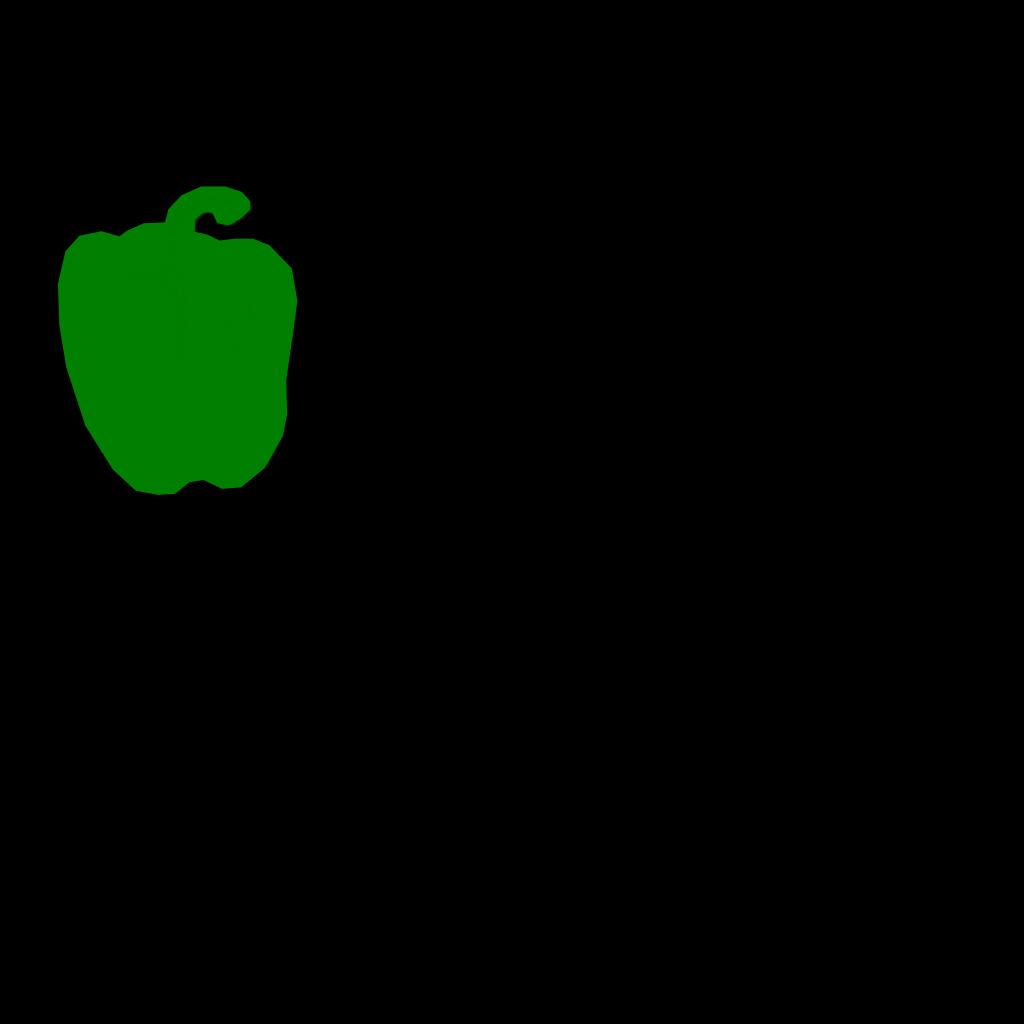 Green Pepper Outline SVG Clip arts