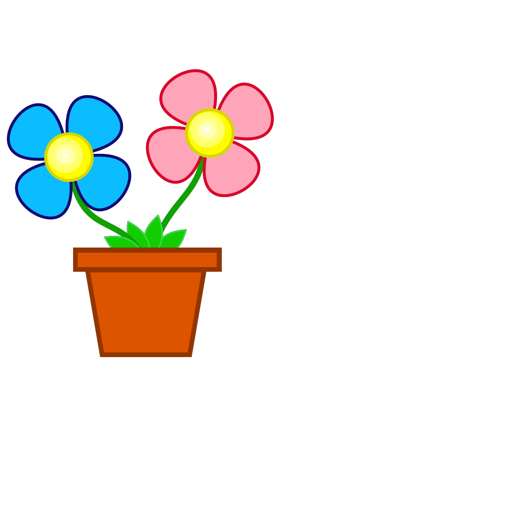 Flowerpot With Soil SVG Clip arts