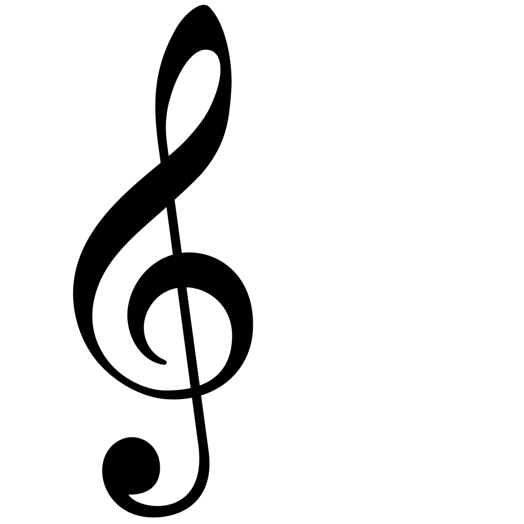 Treble Clef SVG Clip arts