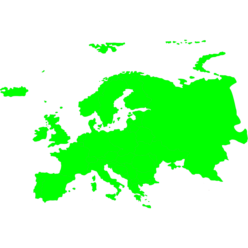 Continents Of Europe & Asia SVG Clip arts