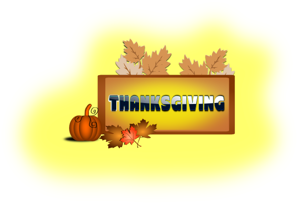 Thanksgiving With Pumpkin & Leaves SVG Clip arts