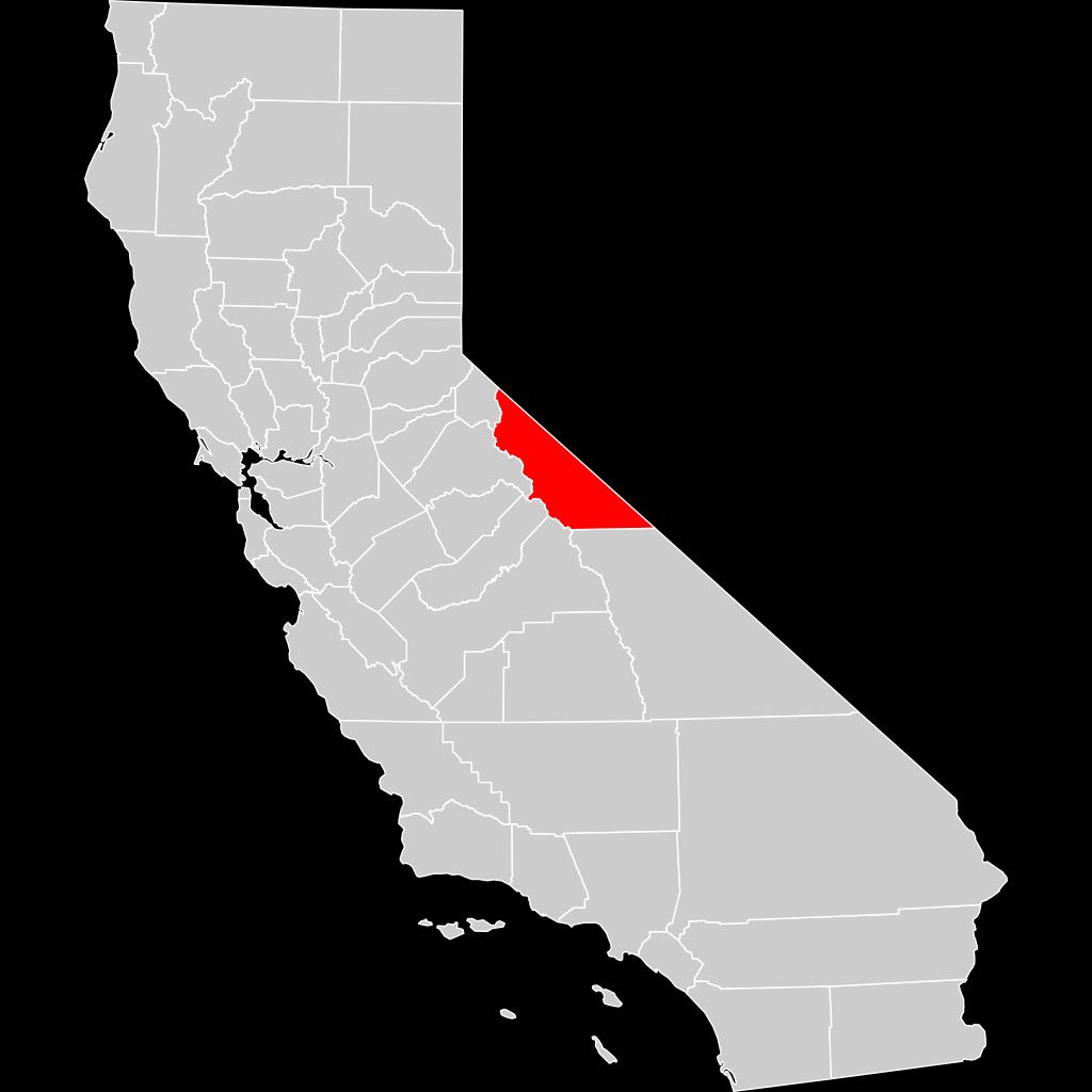 California County Map Mono County Highlighted SVG Clip arts