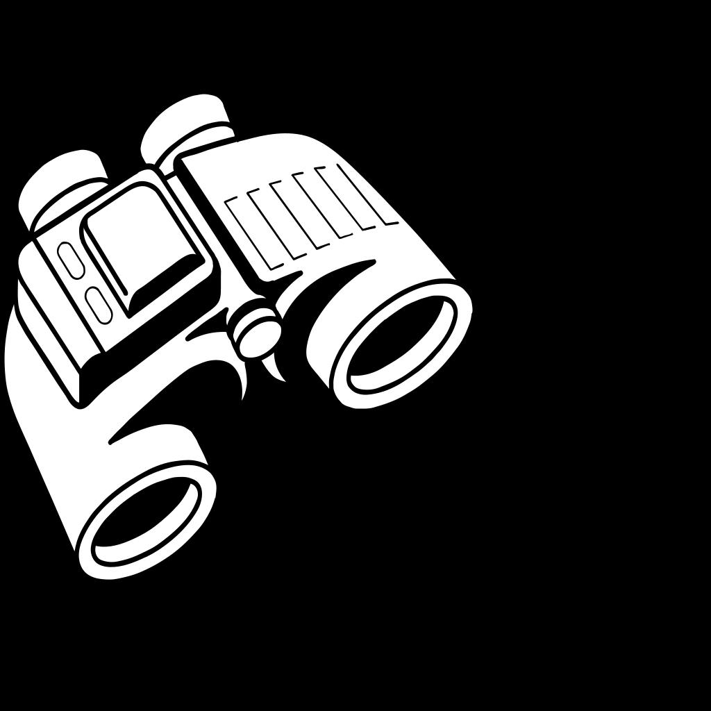 Enlarged Binoculars SVG Clip arts