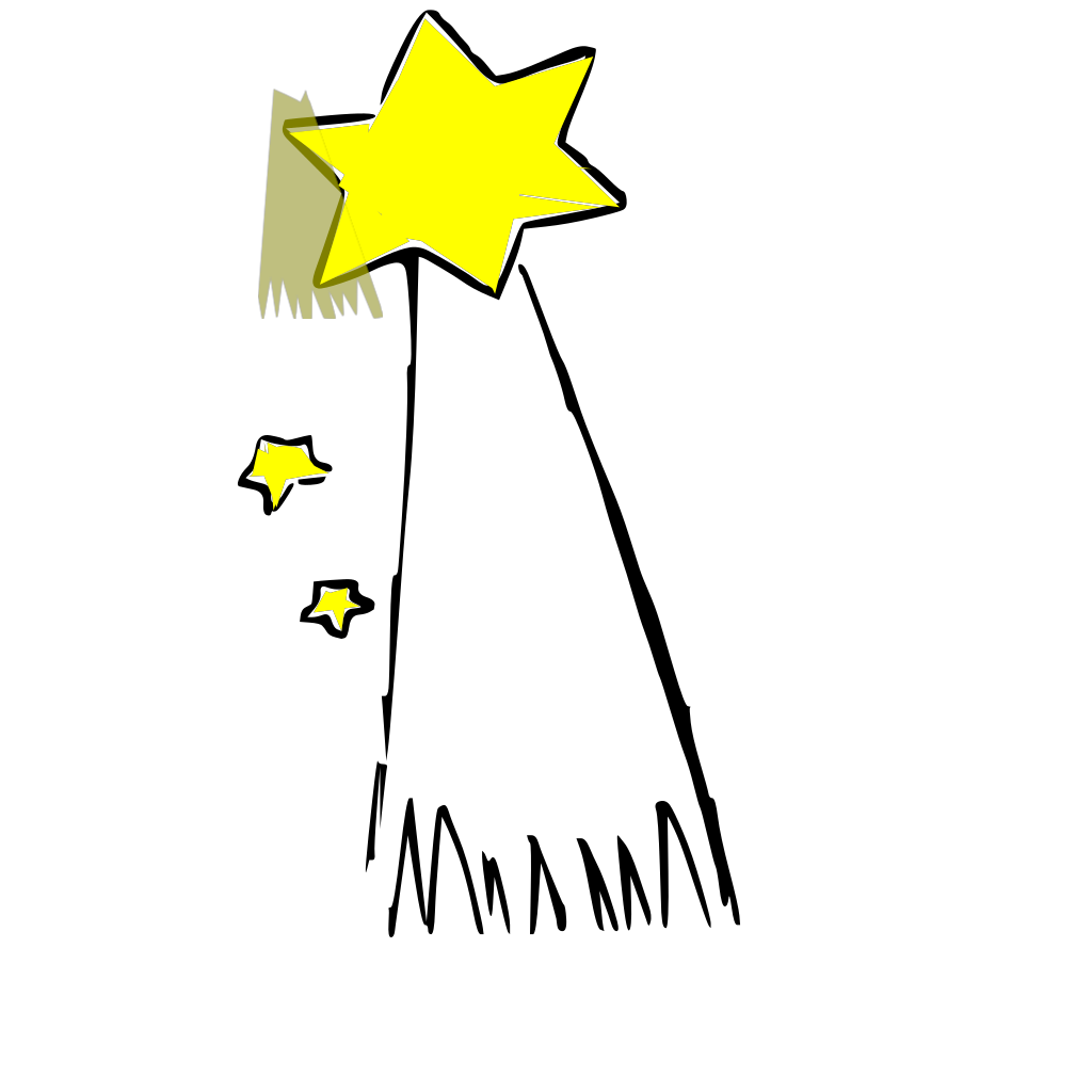 Shooting Star(colored PNG, SVG Clip art for Web - Download ...