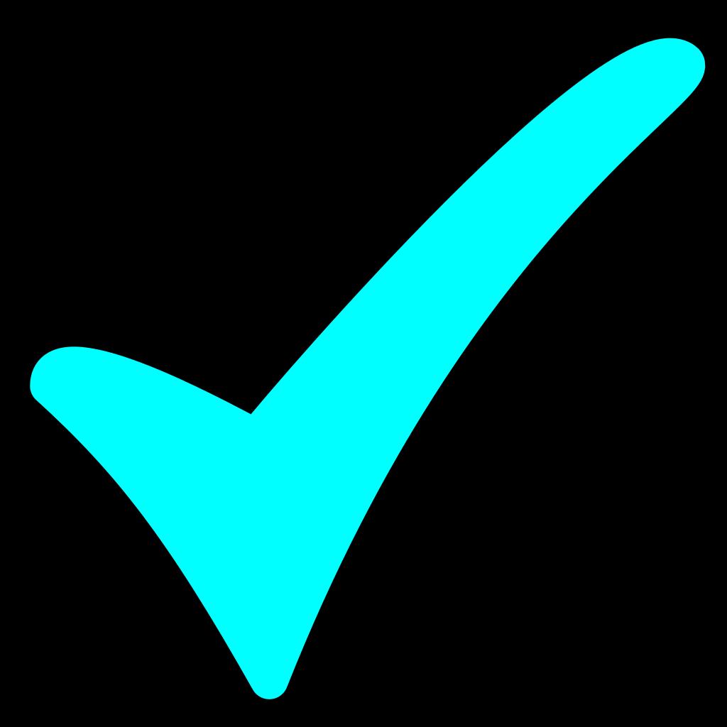 Aqua Checkmark SVG Clip arts