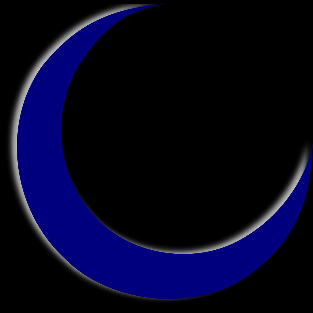 Crescent Moon SVG Clip arts