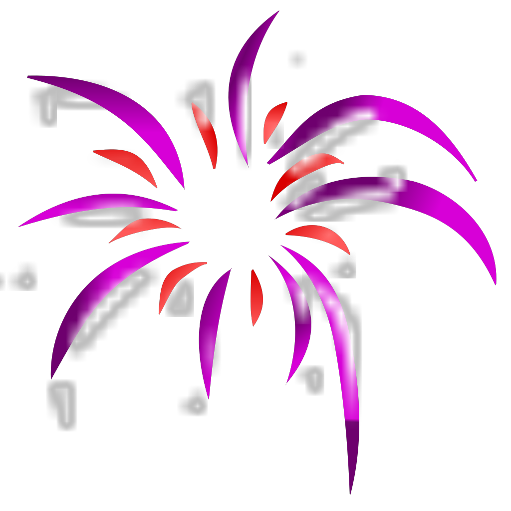 Firework 2 Colors SVG Clip arts