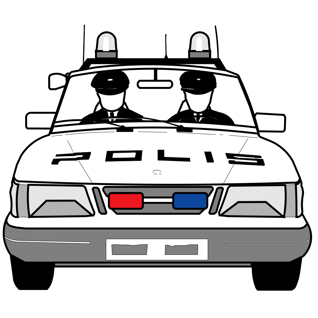 Police Car SVG Clip arts