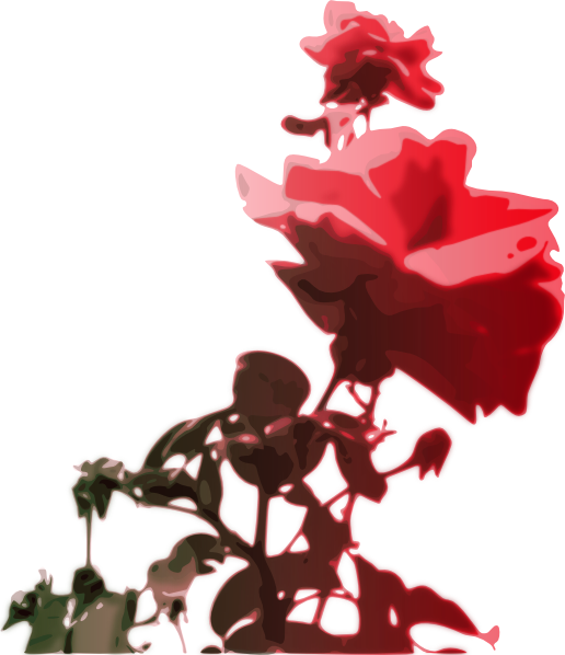 Beautiful Rose SVG Clip arts