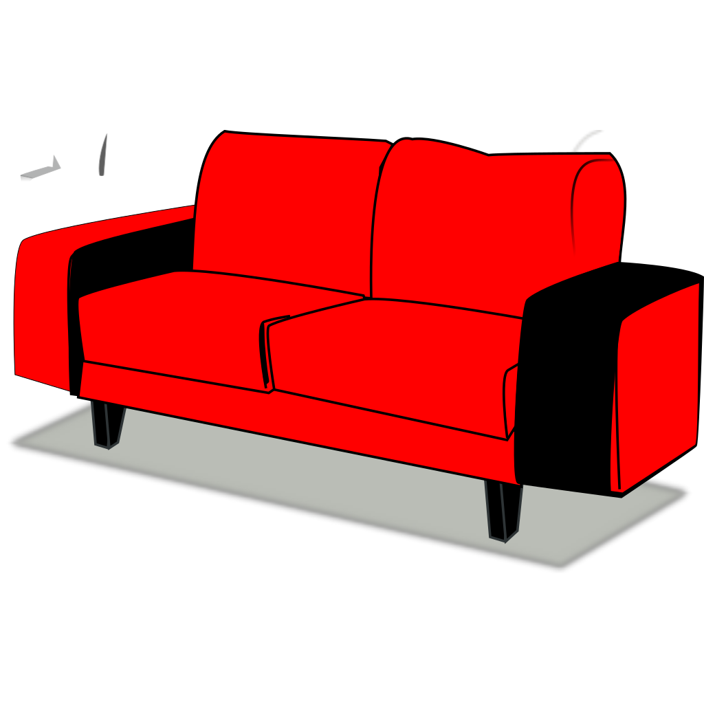 Red Couch SVG Clip arts