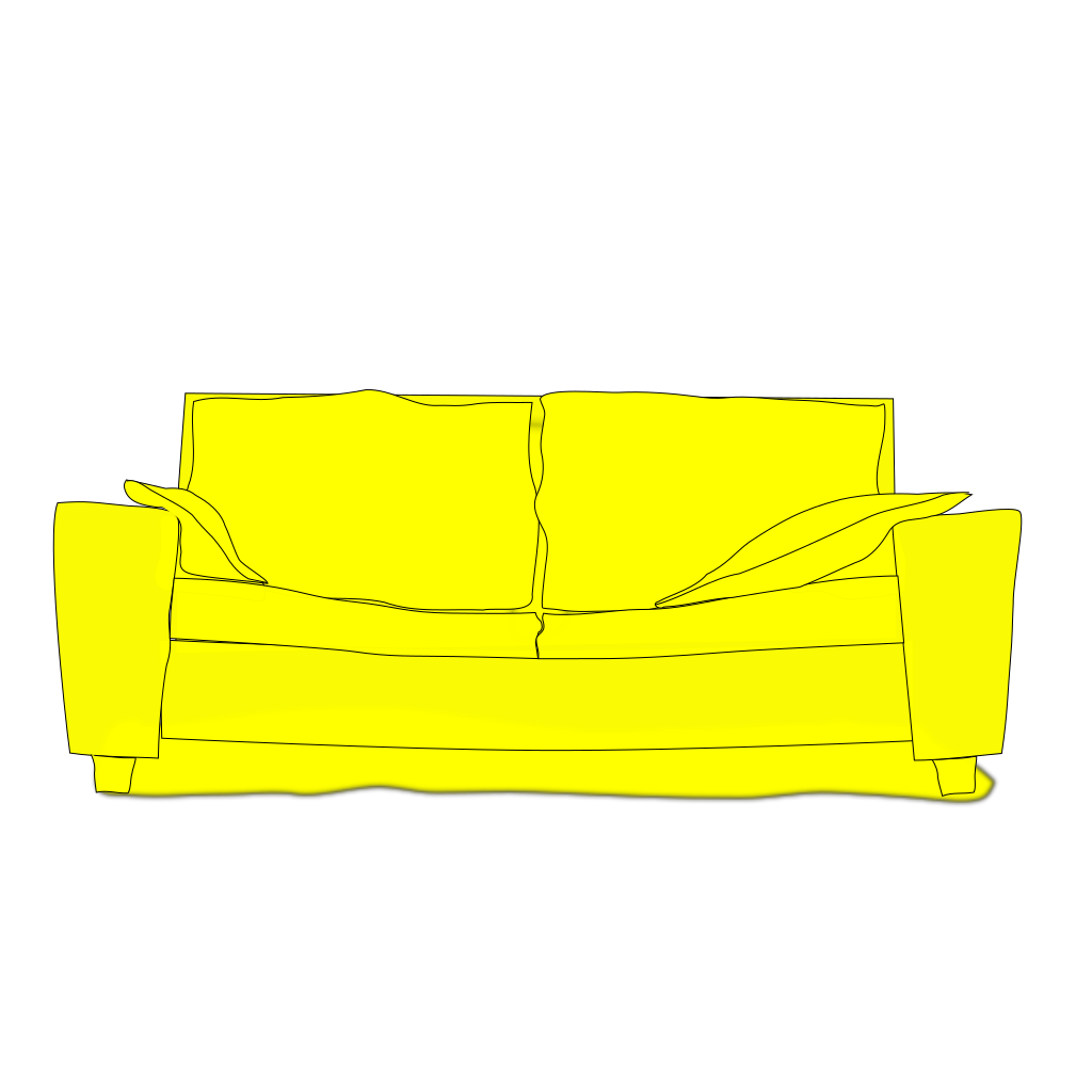 Yellow Couch SVG Clip arts
