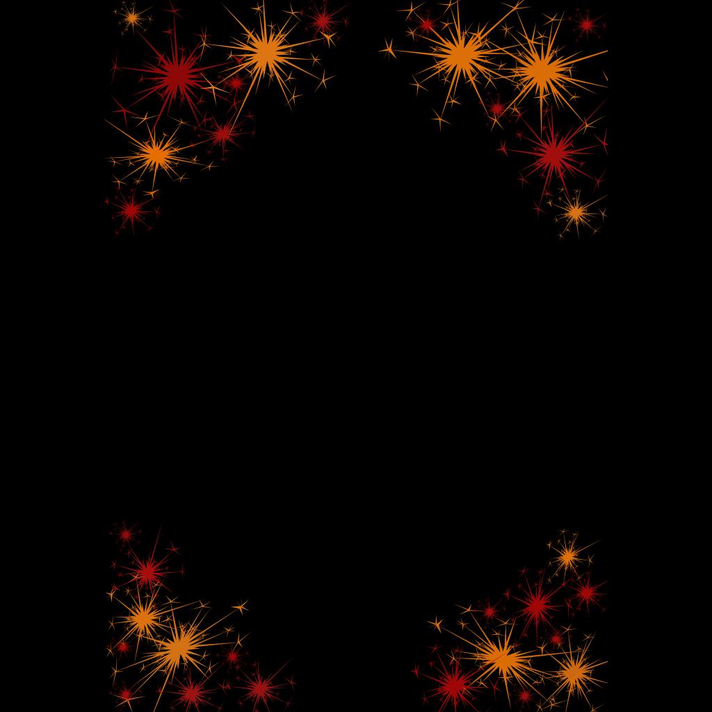 Firework Border SVG Clip arts