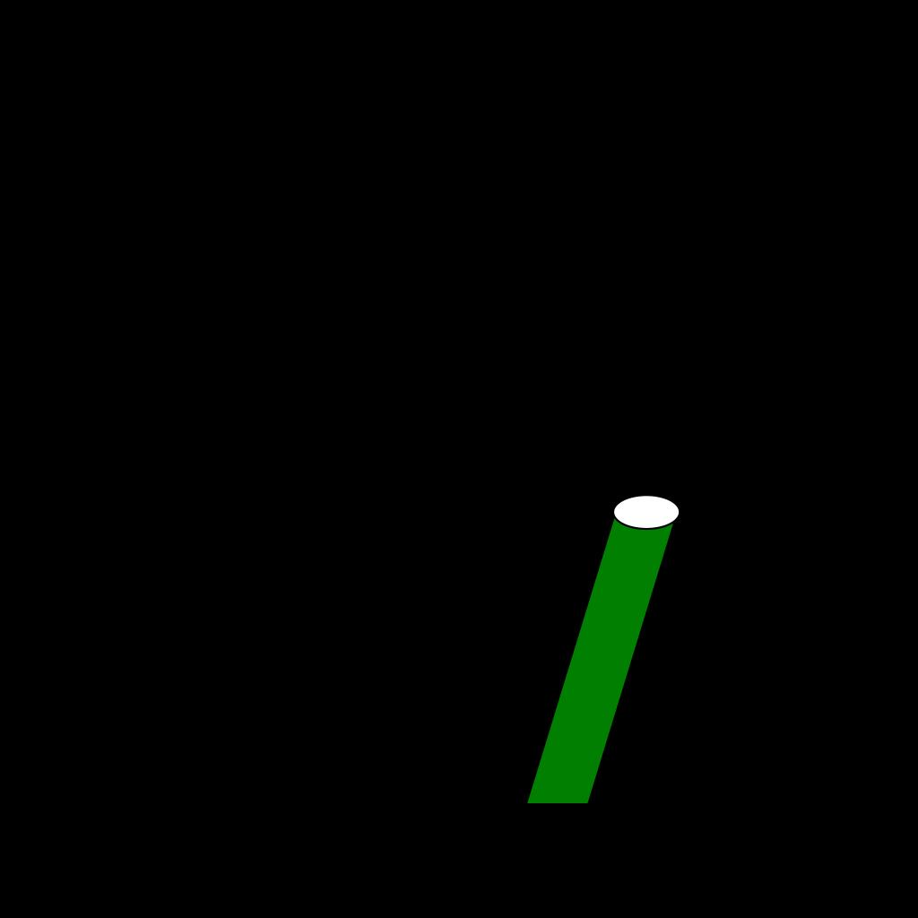 Cricket Bat Outline SVG Clip arts