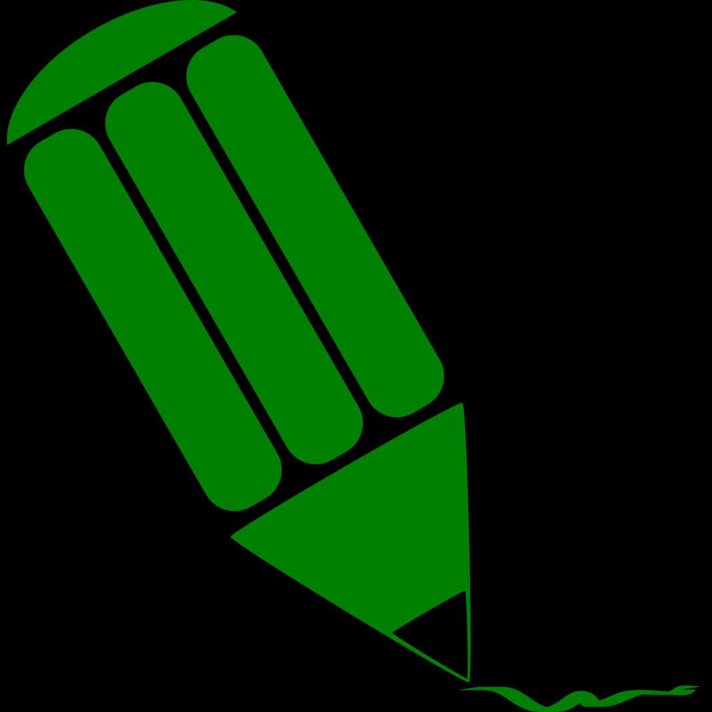 Green Pencil SVG Clip arts