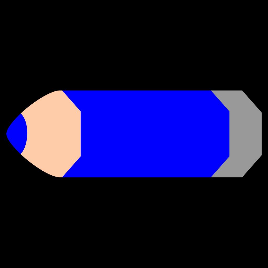 Blue Pencil SVG Clip arts